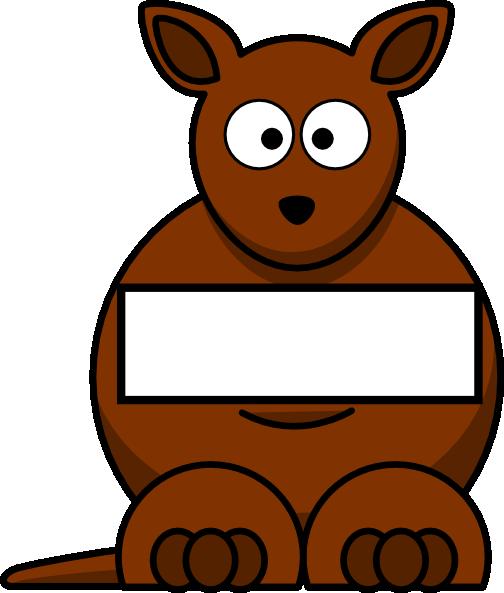 Sightword Kangaroo Clip Art at Clker.com.