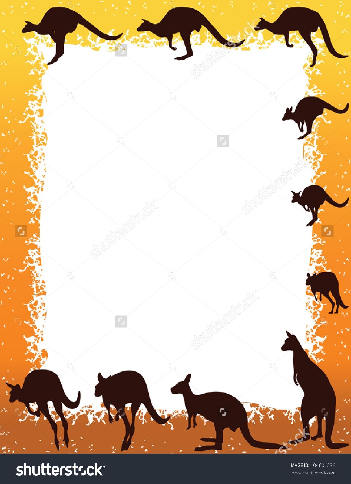 Kangaroo Border Clipart.