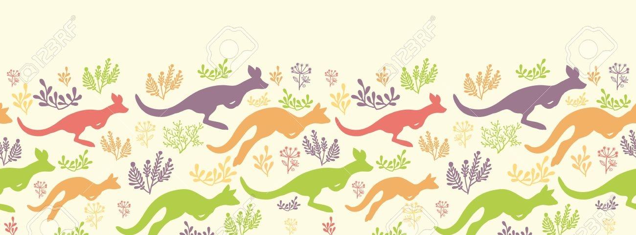 Kangaroo Jumping Cliparts.