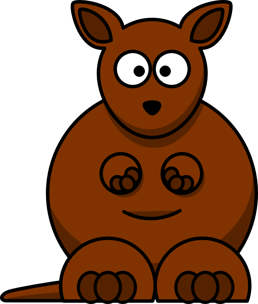 Cute cartoon #kangaroo clip art 100% free from @OnlineLabels.com.com.
