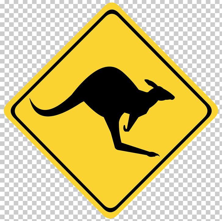 Australia Warning Sign Kangaroo Traffic Sign PNG, Clipart, Animals.
