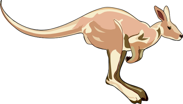 Jumping Kangaroo Clip Art at Clker.com.