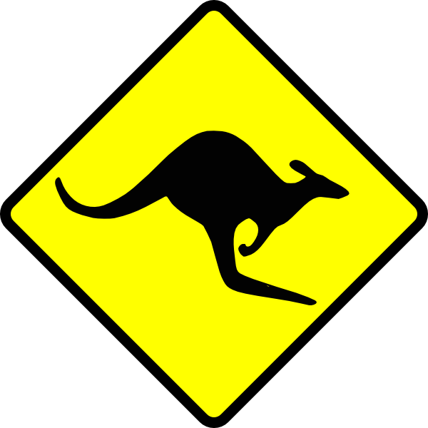 Caution Kangaroo Clip Art at Clker.com.