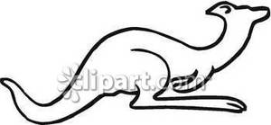 Crouching_Kangaroo_Outline_Royalty_Free_Clipart_Picture_090305.