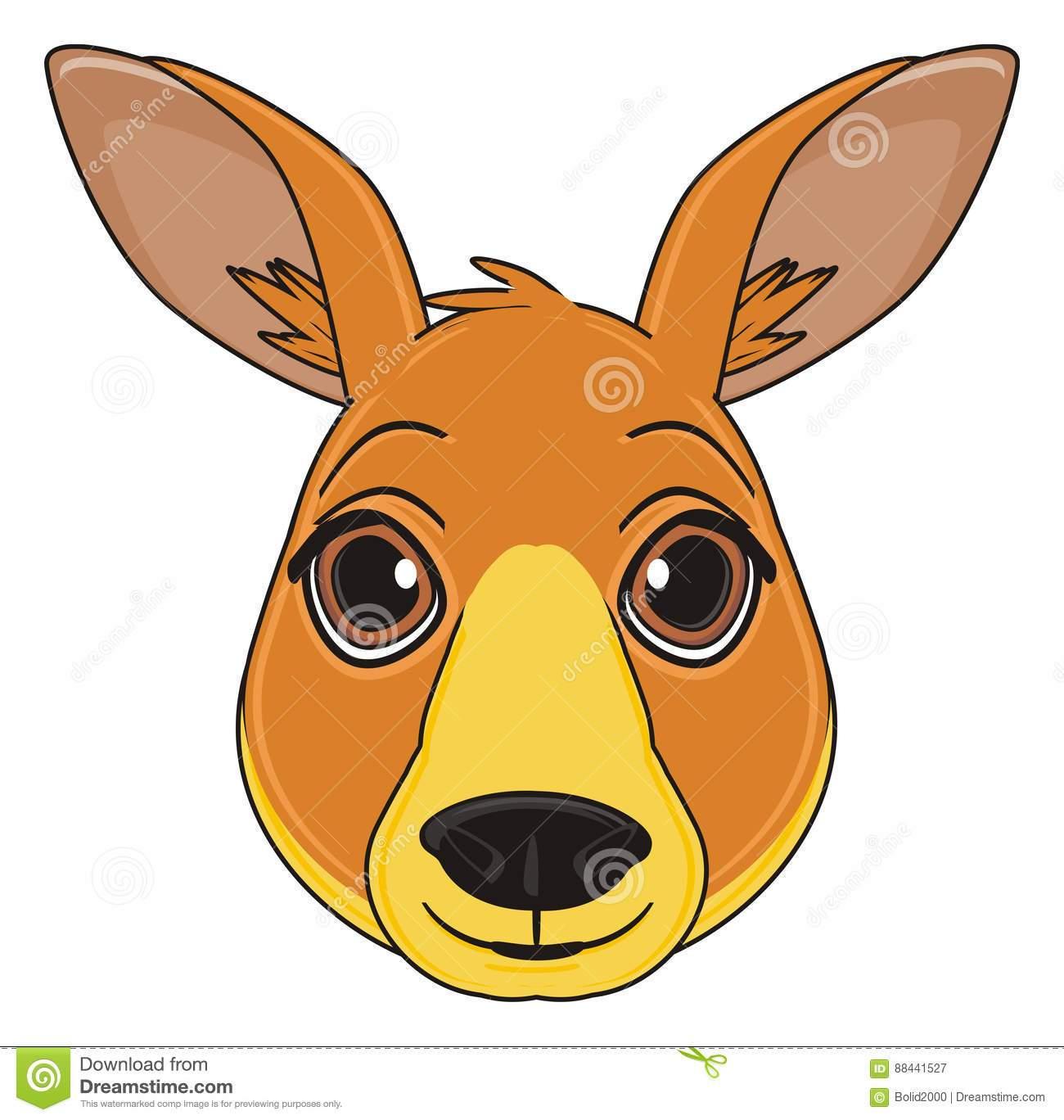 Kangaroo face clipart 1 » Clipart Portal.
