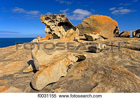 Stock Image of South Australia, Kangaroo island, Remarkable Rocks.