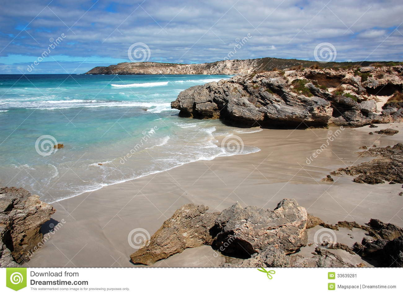 Pennington Bay, Kangaroo Island, South Australia. Stock Images.