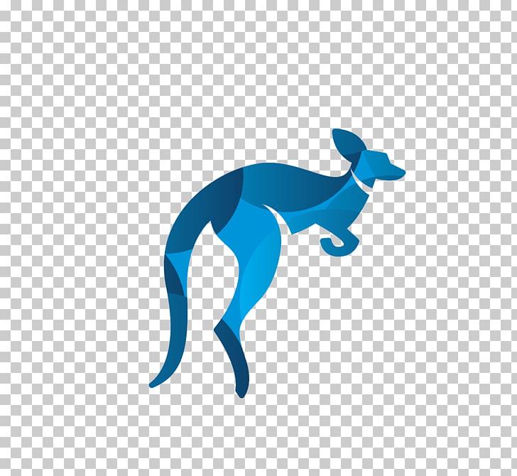 Red kangaroo, Blue puzzle kangaroo PNG clipart.