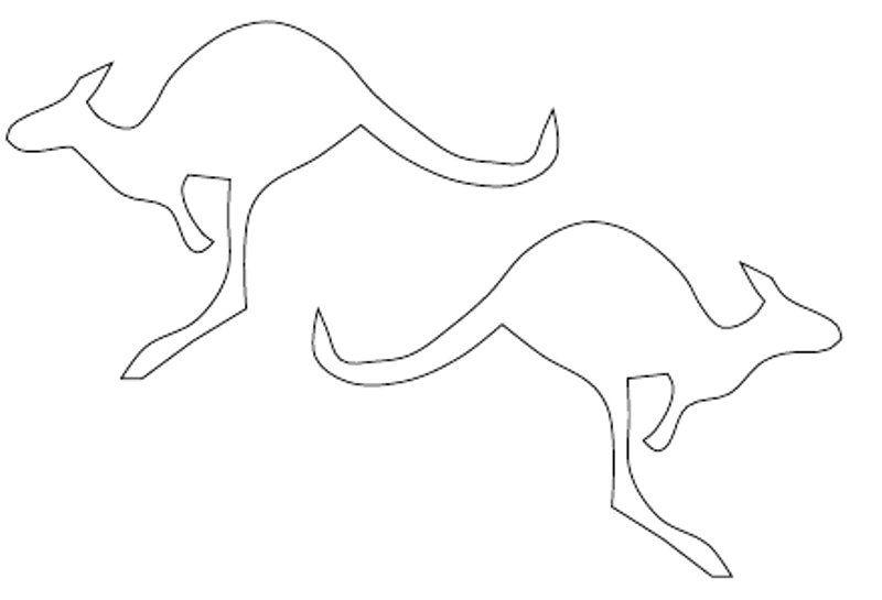 Kangaroo Outline.