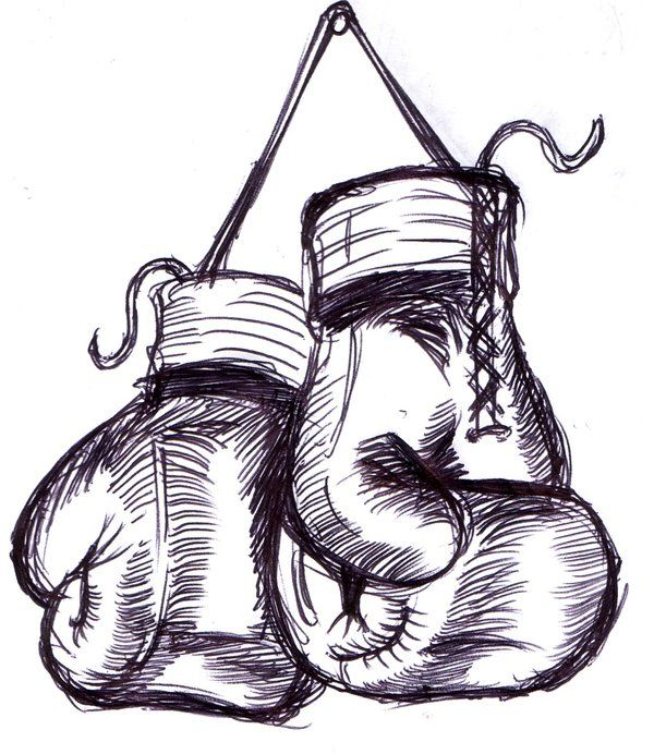 Drawings Of Boxing Gloves.