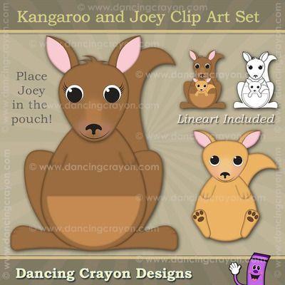 Kangaroo Clip Art and Joey Kangaroo Clip Art.