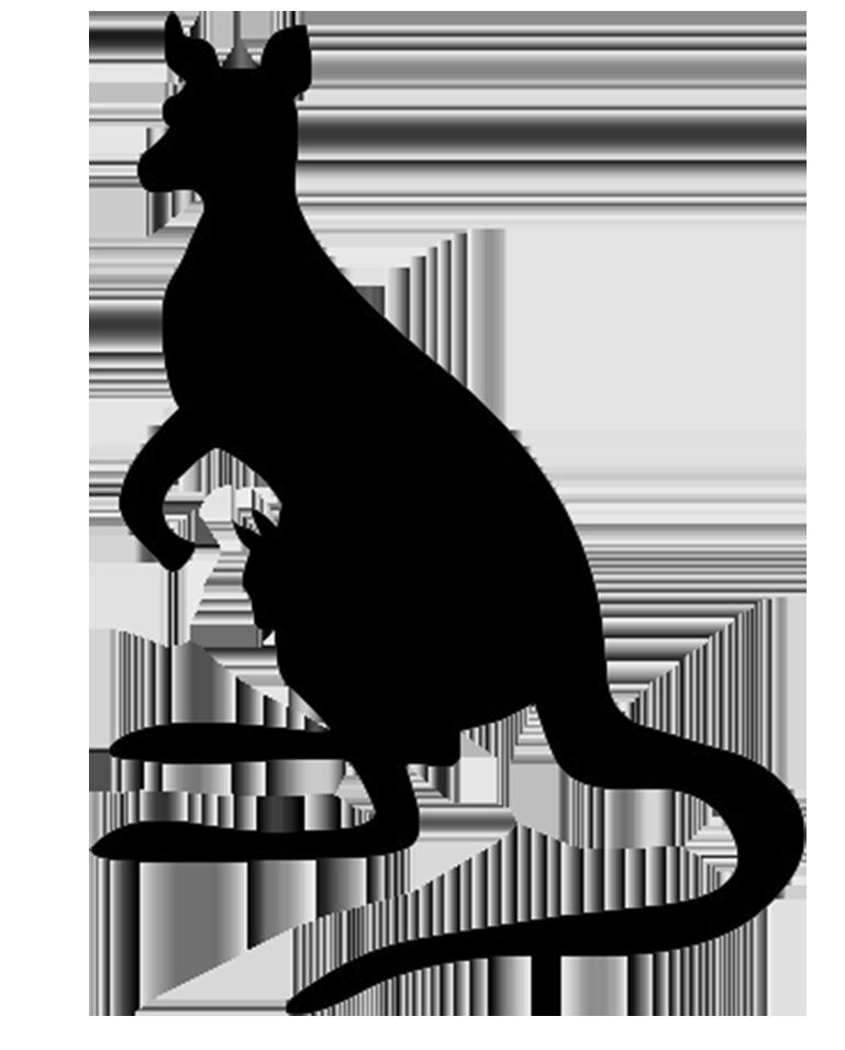 Kangaroo Silhouette Clip art.