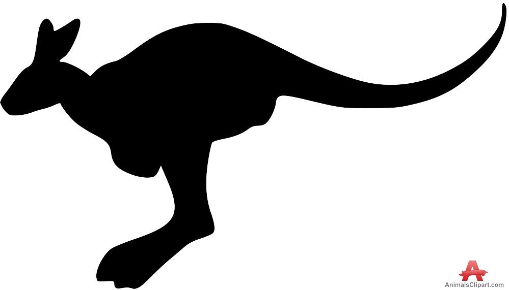 Simple Kangaroo Silhouette.