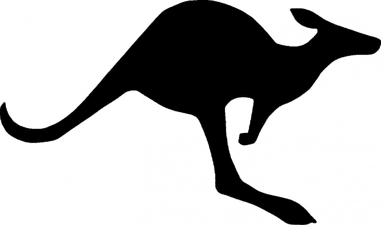 Kangaroo Silhouette Clip Art Free at GetDrawings.com.
