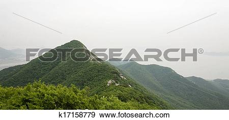 Stock Photograph of Beautiful mountains in south korea,Ganghwa.