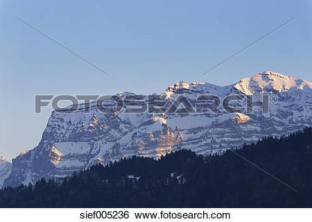 Stock Images of Austria, Vorarlberg, Bregenz Forest, Mountain.