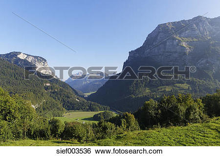 Stock Images of Austria, Vorarlberg, View of Kanisfluh mountain at.