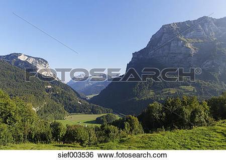 Stock Images of Austria, Vorarlberg, View of Kanisfluh mountain at.