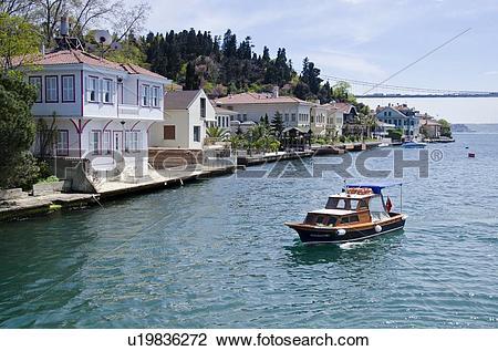 Stock Photo of Kanlica, along the Bosphorus, Istanbul, Turkey.