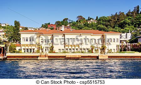 Stock Photos of Luxury villa on Bosporus.