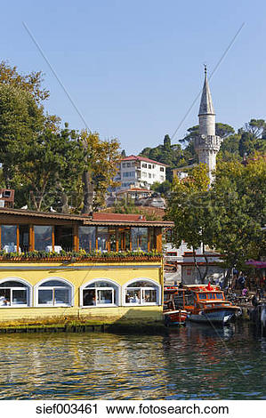 Stock Photography of Turkey, Istanbul, Kanlica village at.