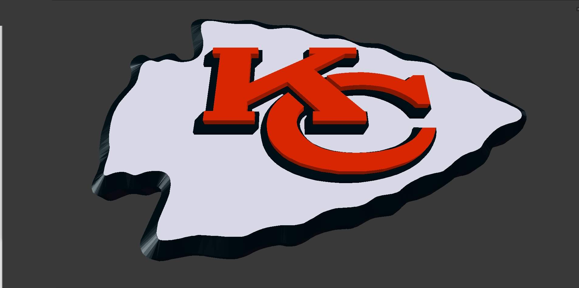 Kansas City Chiefs Logo 3D Model.