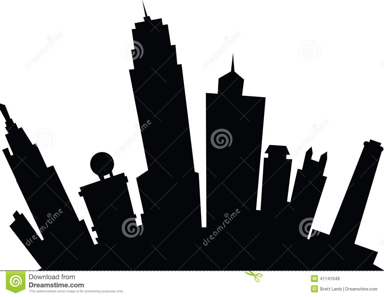 Cartoon Kansas City Stock Illustration.