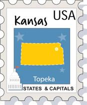 Fifty States: Kansas Clipart.