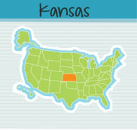 Fifty US States: Kansas Clipart.