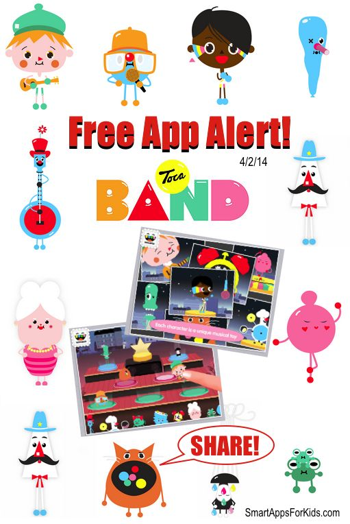 Free App Alert! Toca Boca Fans! Toca Band is FREE! Download now.