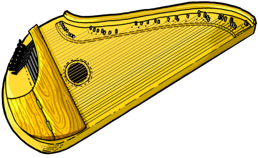 Zither clipart.