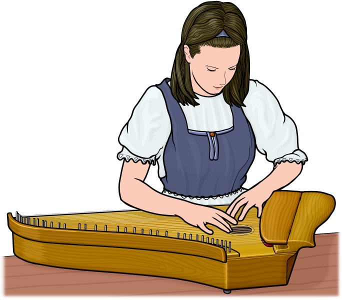 Kantele player.