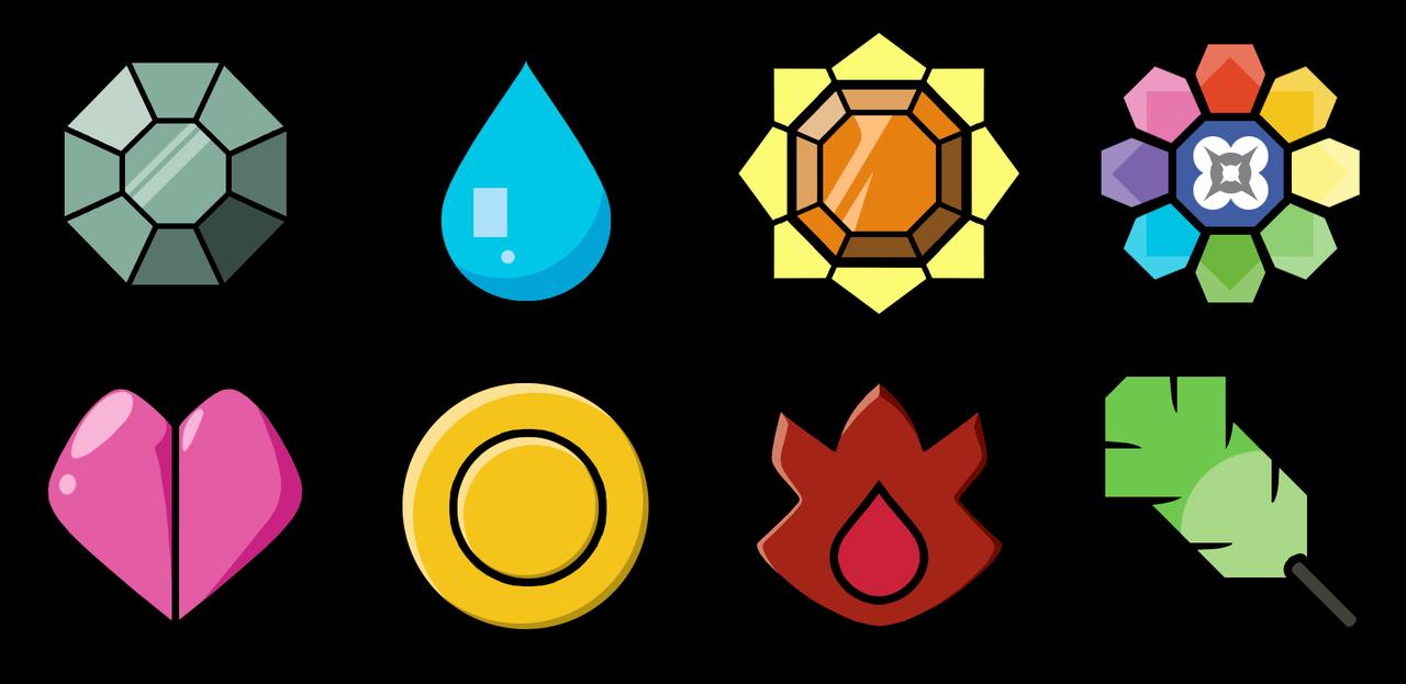 Gym Badges.