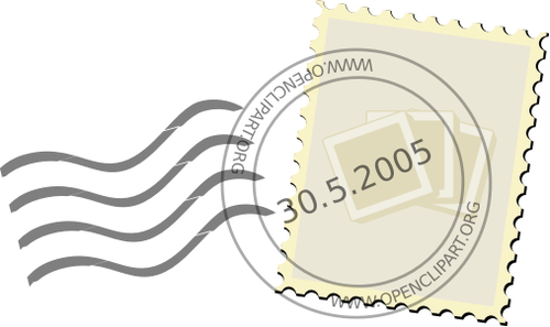 Gambar vektor cap pos kantor pos.