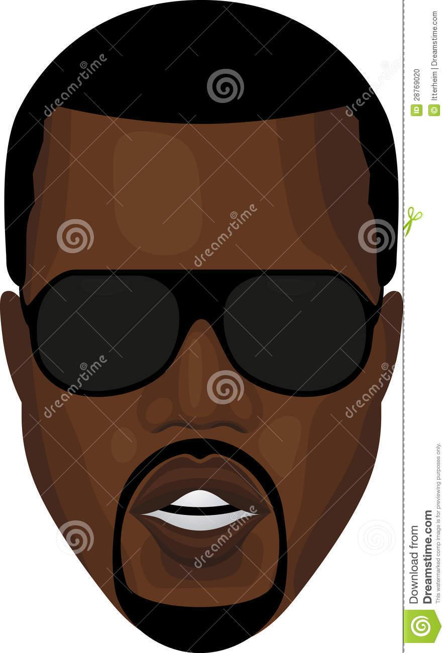 Kanye West Stock Illustrations.