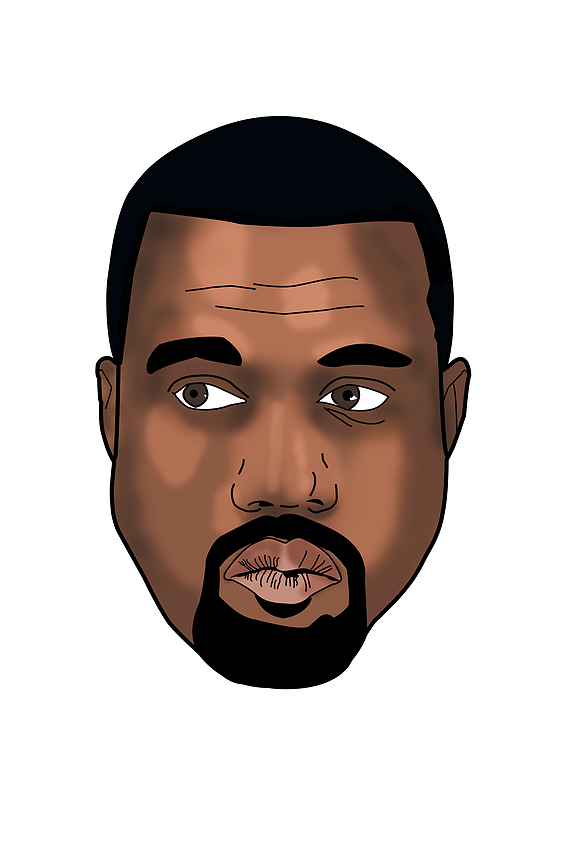 Kanye West Face Png Vector, Clipart, PSD.