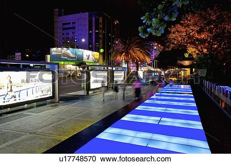 Stock Photography of Taiwan, Kaohsiung, Urban Spotlight Arcade.