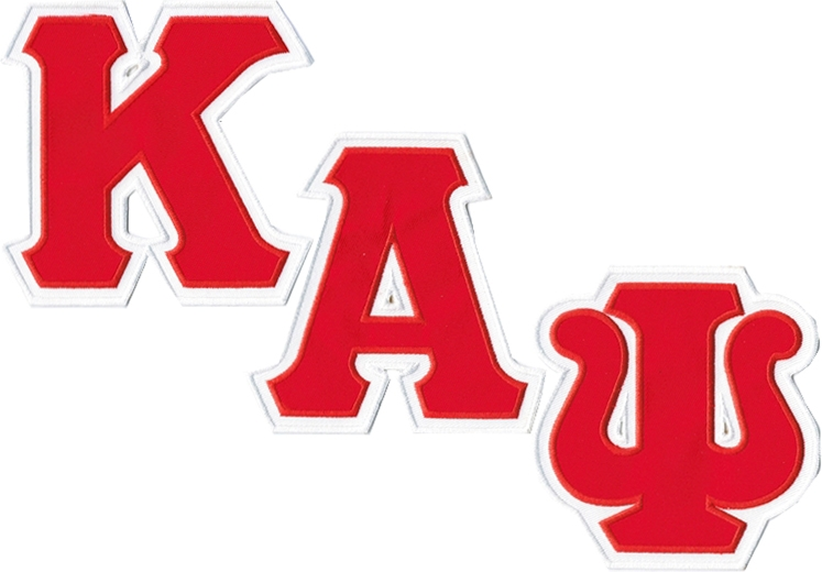 Kappa Alpha Psi Twill Letter Iron.