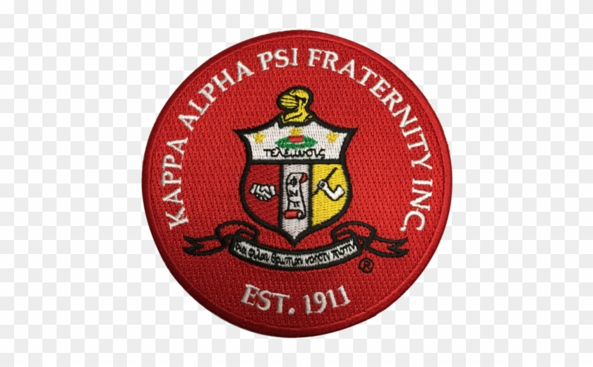Kappa Alpha Psi Fraternity Embroidered Appliqué Seal.