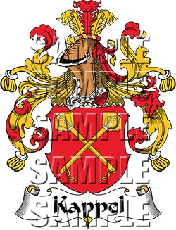 Kappel Family Crest apparel, Kappel Coat of Arms gifts.