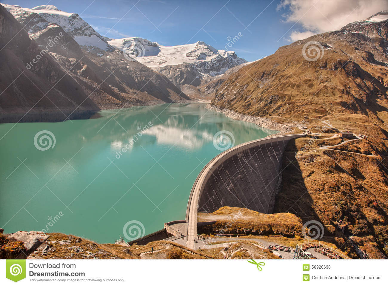 Mooserboden High Altitude Reservoir, Near Kaprun.