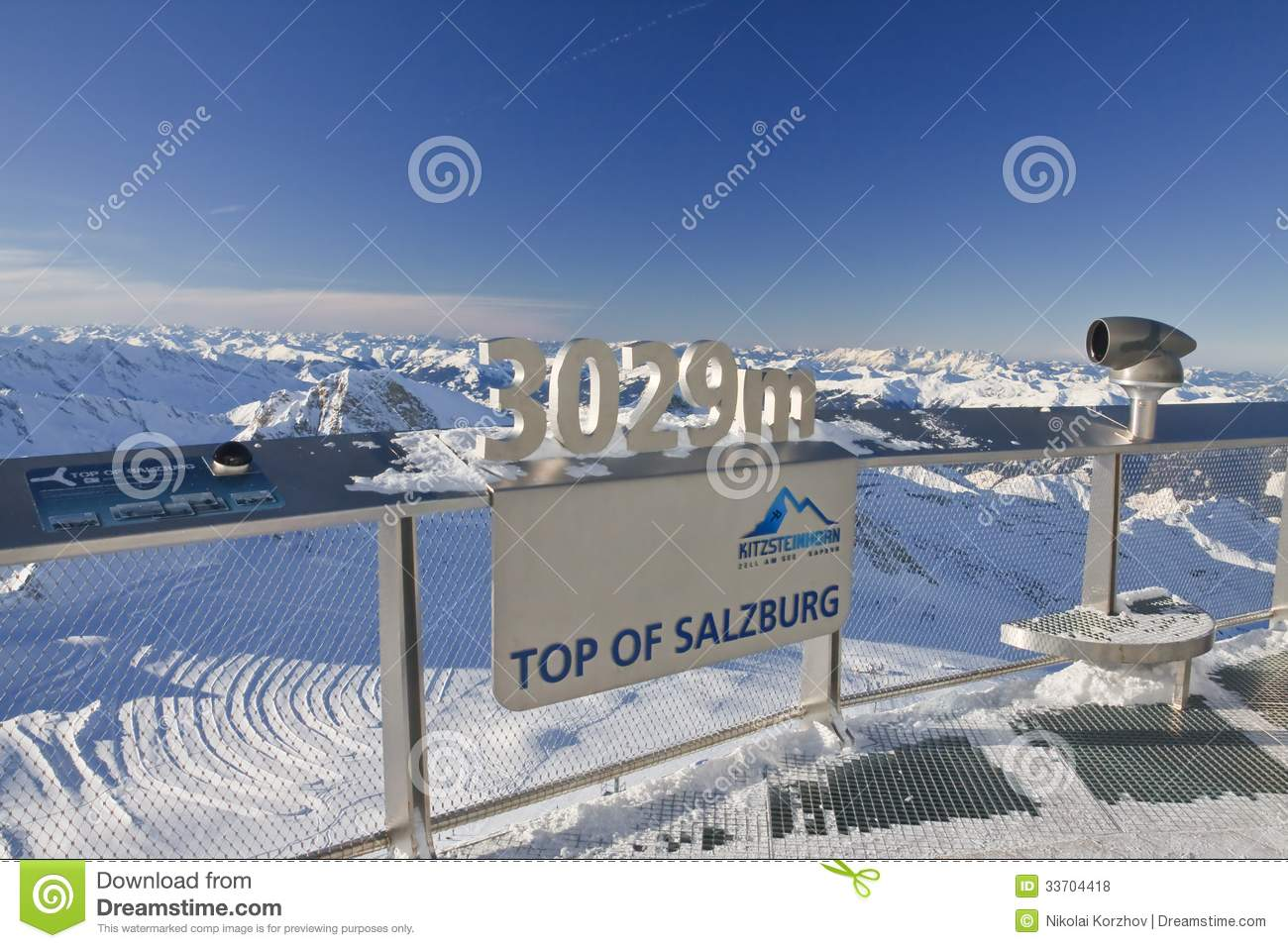 Ski Resort Of Kaprun, Kitzsteinhorn Glacier. Austria Editorial.