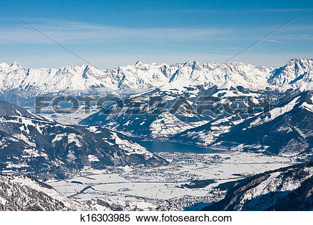 Stock Image of Ski resort of Kaprun, Kitzsteinhorn glacier.