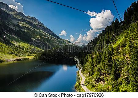 Stock Photo of Austria Kaprun panorama.