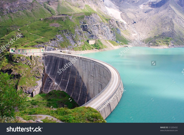 Concrete Dam Wall Kaprun Power Plant Stock Photo 51205432.