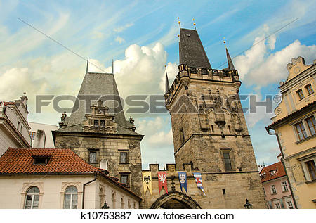 Picture of View of the Lesser Bridge Tower of Charles Bridge in.