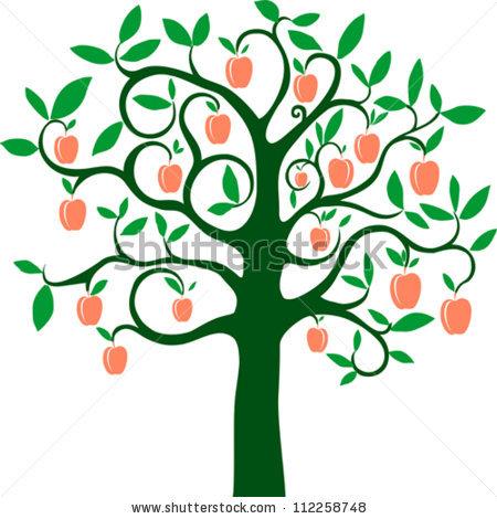Peach Tree Clipart.