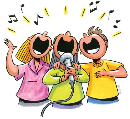 Karaoke Singer Clipart.