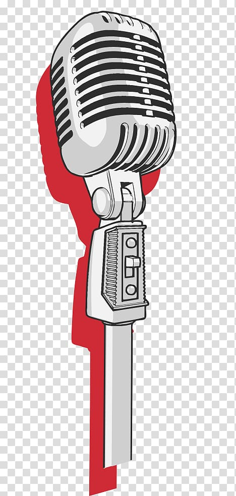 Silver condenser mic illustration, Microphone stand Music.