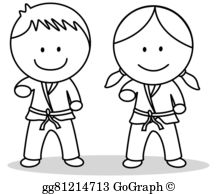 Karate Belt Clip Art.